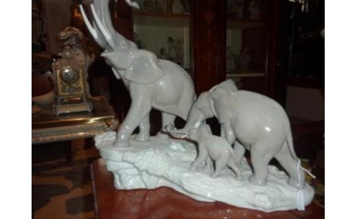 elefanti Lladro' porcellana